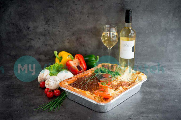 Zalm-spinazie lasagne