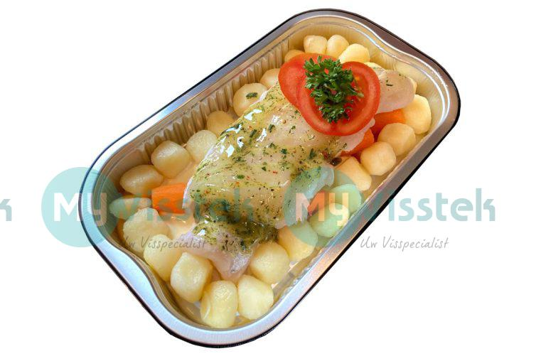 Ovenschotel kabeljauw met hollandaise saus