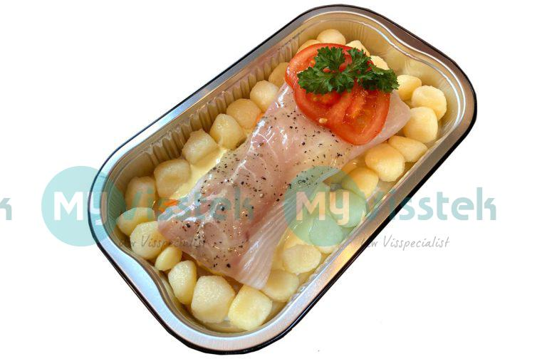 Ovenschotel kabeljauwfilet met mosterdsaus